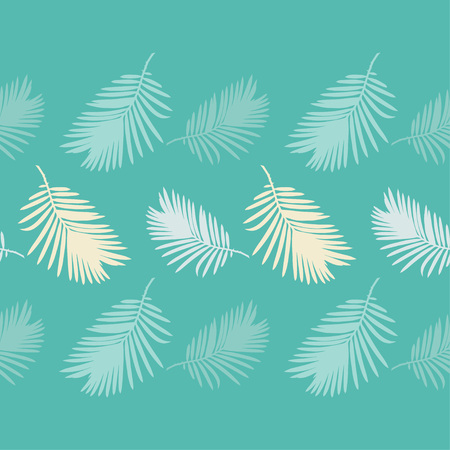 Seamless background with decorative Tropical palm leaves. Monstera. Vector illustration. Can be used for wallpaper, textile, invitation card, wrapping, web page background. 向量圖像