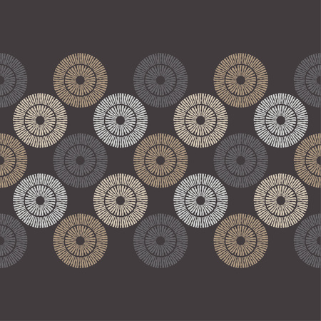 Polka dots seamless pattern. Mosaic of ethnic figures. Patterned texture. Geometric background. Can be used for wallpaper, textile, invitation card, wrapping, web page background. Ilustrace