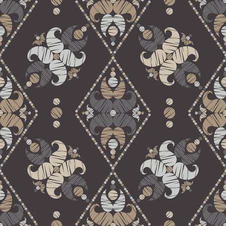 Paisley ornament. Polka dot. Ethnic boho seamless pattern. Ikat. Traditional ornament. Folk motif. Can be used for wallpaper, textile, invitation card, wrapping, web page background.