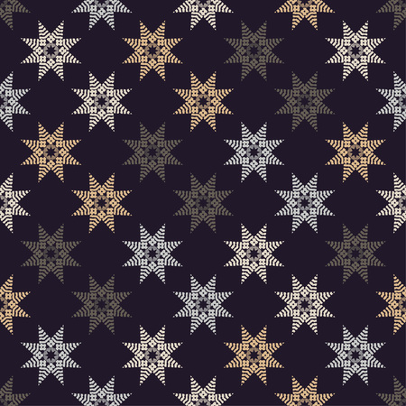 Stars. Ethnic boho seamless pattern. Lace. Embroidery on fabric. Patchwork texture. Weaving. Traditional ornament. Tribal pattern. Folk motif. Can be used for wallpaper, textile, wrapping, web.