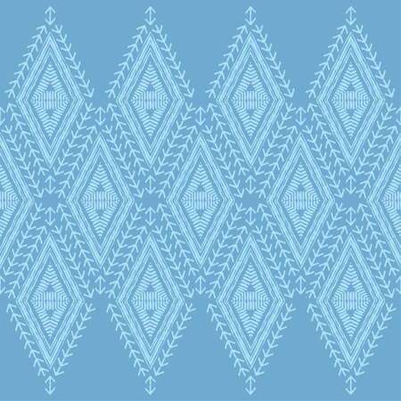 Ethnic boho seamless pattern. Lace. Embroidery on fabric. Patchwork texture. Weaving. Traditional ornament. Tribal pattern. Folk motif. Can be used for wallpaper, textile, wrapping, web. Illustration