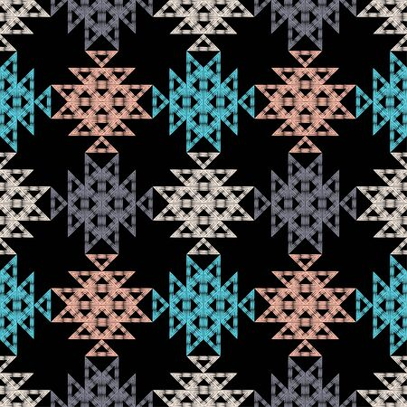 Leopard and Zebra spots. Ethnic boho seamless pattern. Lace. Embroidery on fabric. Patchwork texture. Weaving. Traditional ornament. Tribal pattern. Folk motif. Can be used for wallpaper, textile, wrapping, web. Vectores