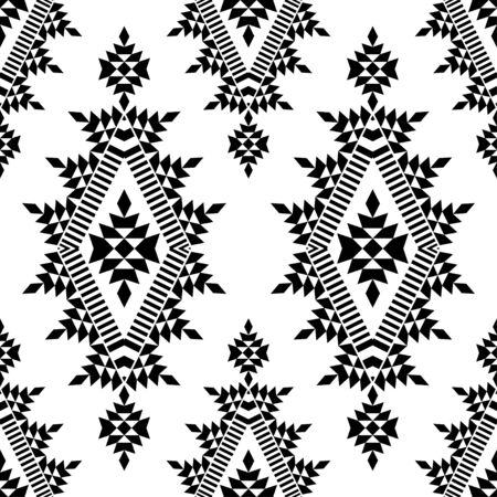 Ethnic boho seamless pattern. Lace. Embroidery on fabric. Patchwork texture. Weaving. Traditional ornament. Tribal pattern. Folk motif. Can be used for wallpaper, textile, wrapping, web. Vektorové ilustrace
