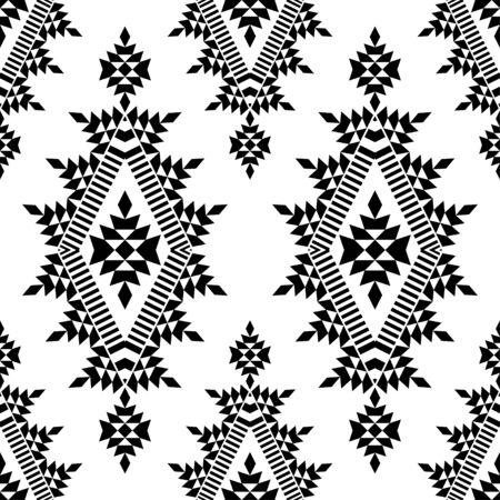 Ethnische Boho nahtlose Muster. Spitze. Stickerei auf Stoff. Patchwork-Textur. Weberei. Traditionelle Verzierung. Stammesmuster. Volksmotiv. Kann für Tapeten, Textilien, Verpackungen, Web verwendet werden. Vektorgrafik