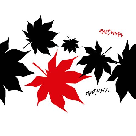 Seamless background with decorative Autumn leaves. Beautiful park. Vector illustration. Can be used for wallpaper, textile, invitation card, wrapping, web page background.