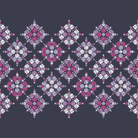 Polka dots seamless pattern. Mosaic of ethnic figures. Patterned texture. Geometric background. Can be used for wallpaper, textile, invitation card, wrapping, web page background. Illusztráció