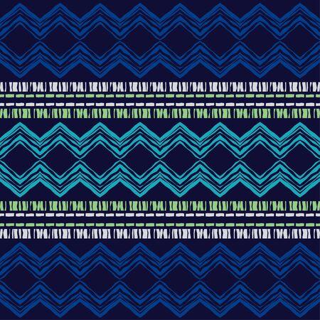 Modello senza cuciture etnico boho. Pizzo. Ricamo su tessuto. Trama patchwork. Tessitura. Ornamento tradizionale. Modello tribale. Motivo popolare. Può essere utilizzato per carta da parati, tessuti, confezioni, web. Vettoriali