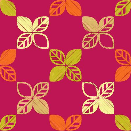 Seamless background with decorative Autumn leaves. Beautiful park. Vector illustration. Can be used for wallpaper, textile, invitation card, wrapping, web page background. 向量圖像
