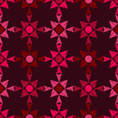 Patterned triangles. Trendy seamless pattern designs. Vector geometric background. Can be used for wallpaper, textile, invitation card, wrapping, web page background.
