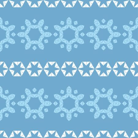 Seamless pattern with Decorative Norwegian Snowflakes. Merry Christmas! Vector illustration. Can be used for wallpaper, textile, invitation card, wrapping, web page background.