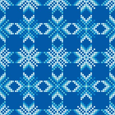 Seamless knitted pattern. A warm sweater. Vector illustration for web design or print. Çizim