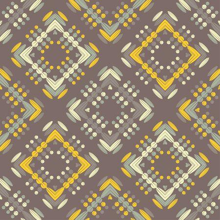 Paisley ornament. Polka dots. Ikat. Traditional ornament. Vector illustration for web design or print. Иллюстрация
