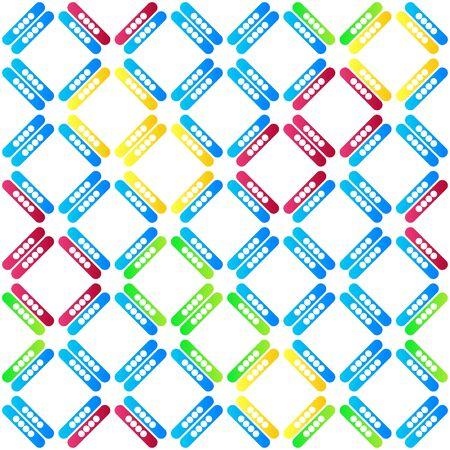 Nahtloses Muster mit mehrfarbigen Streifen. Kreatives Design mit lebendigen Farbverläufen. Vektorillustration für Webdesign oder Druck.