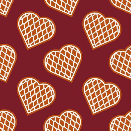 Christmas Gingerbread. Hearts. Vector illustration for web design or print. 일러스트