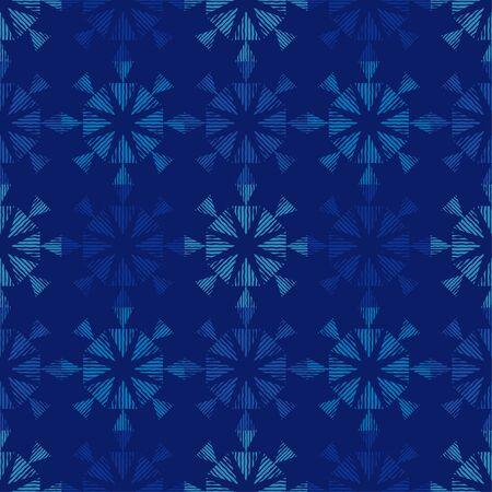 Seamless pattern with Decorative Snowflakes and Stars. Vector illustration for web design or print.