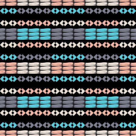 Ethnic boho ornament. Seamless pattern. Tribal motif. Vector illustration for web design or print.