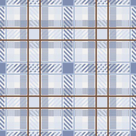 Seamless pattern with plaid texture. Tartan. Scottish, English fabric. Vector illustration for web design or print. Vecteurs