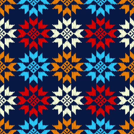 Aztec elements. Ethnic boho ornament. Seamless pattern. Tribal motif. Vector illustration for web design or print. Vecteurs