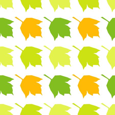 Seamless background with decorative modern leaves. Vector illustration for web design or print.