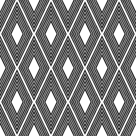 Geometry. Design with manual hatching. Ethnic boho ornament. Seamless background. Tribal motif. Vector illustration for web design or print. Illustration