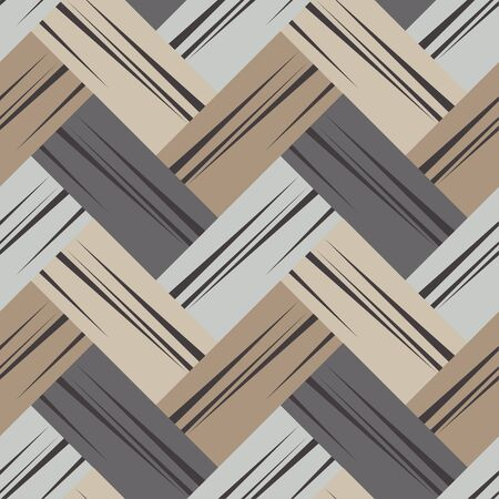 Brown floor with wooden texture. Netting. Ethnic boho ornament. Geometry. Seamless pattern. Vector illustration for web design or print. Vector Illustration