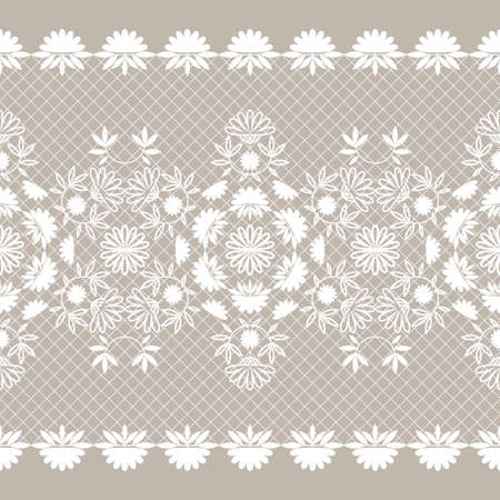 The lace pattern. Seamless background. Decoration for your design, lingerie and jewelry. Vector illustration for web design or print.