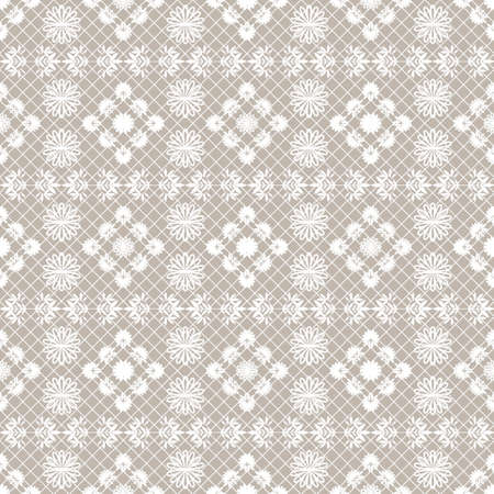 The lace pattern. Seamless background. Decoration for your design, lingerie and jewelry. Vector illustration for web design or print. Çizim