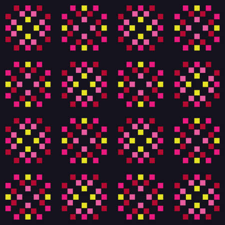Mosaic of squares. Abstract background. Seamless pattern. Vector illustration for web design or print.