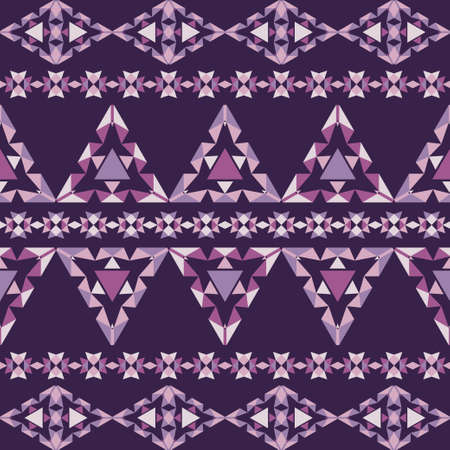 Aztec elements from triangles. Seamless pattern. Textile. Ethnic boho ornament. Vector illustration for web design or print.