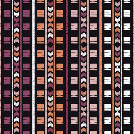 Navajo mosaic rug with traditional folk geometric pattern. Stripes. Native American Indian blanket. Aztec elements. Seamless pattern. Vector illustration for web design or print.