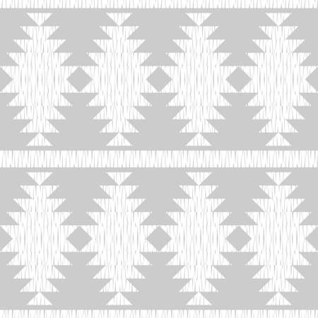 Navajo mosaic rug with traditional folk geometric pattern. Native American Indian blanket. Aztec elements. Mayan ornament. Seamless background. Vector illustration for web design or print.