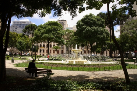 Curitiba, Santos Andrade square fountain Stock Photo - 17212328