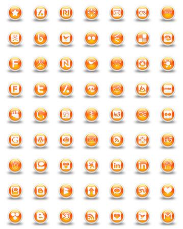 oranje pictogrammen Stockfoto