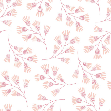 pleasant: Pink floral vector pattern. Pleasant gentle colors. Flowers.