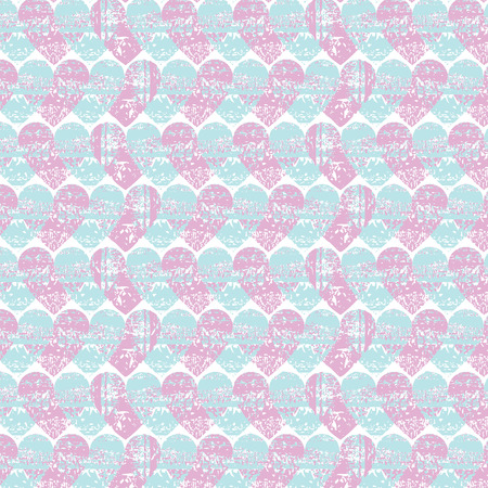 pleasant: Abstract seamless heart pattern. Ink illustration. Delicate, pleasant colors.