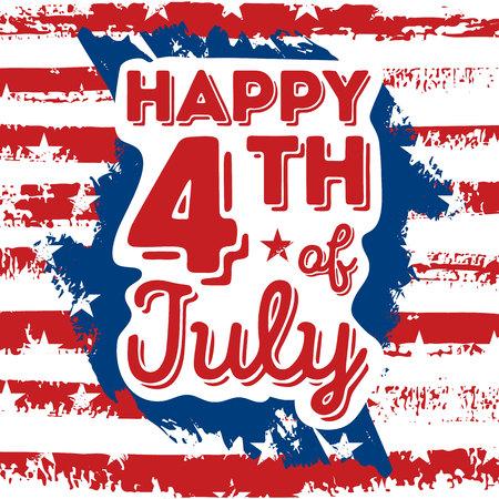 Happy 4th of Juillet - Independence Day Vector Design - Juillet quatrième