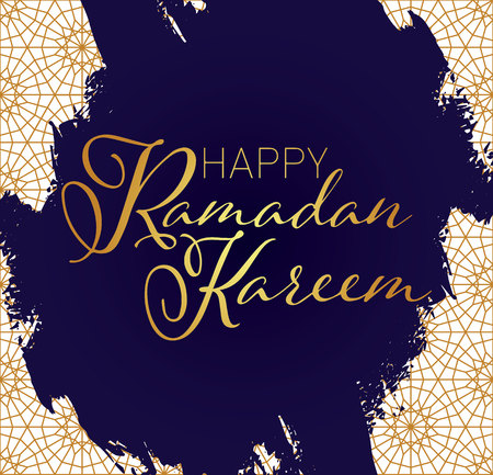 ornate background: Banner, card, poster with arabic ornament, vector illustration,  Ramadan kareem. Eid Mubarak. EPS 8. Illustration