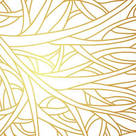 sophisticated: Complex golden linear vector background. Sophisticated and elegant.