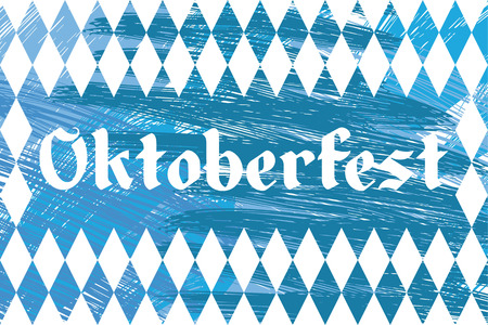 blue and white Oktoberfest banner with text Oktoberfest 2016 (german)