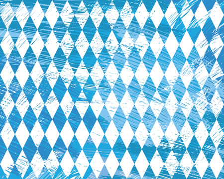 Seamless Oktoberfest and Bavarian flag pattern or background with fabric texture