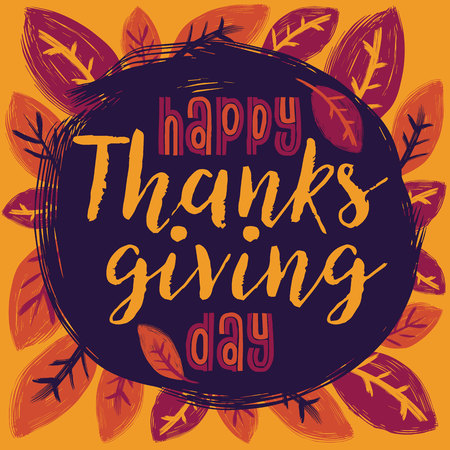 Flat design style Happy Thanksgiving Day . Happy Thanksgiving Day template. Thanksgiving Day card template. Happy Thanksgiving.