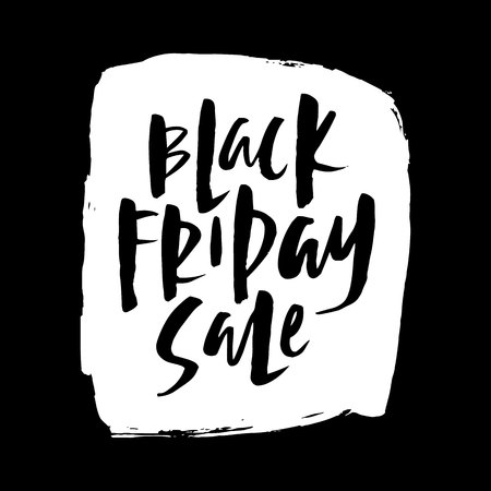 Black Friday. Vector design template for poster, card, tag, invitation, placard, brochure, flyer, web and other users. Иллюстрация