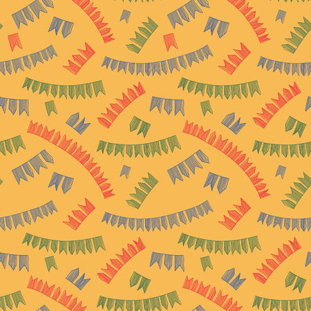Latin American holiday, the June party of Brazil. Pattern. Vector illustration