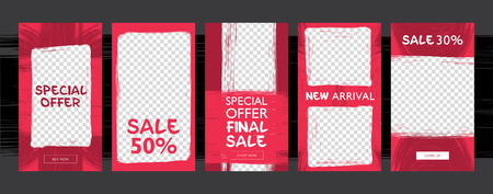 Commercial Stories template. Sale, Special offer, new arrival. Illustration