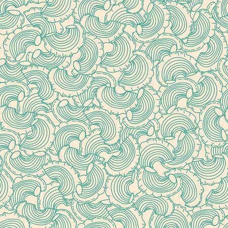 Beautiful seamless pattern of traditional italian pasta shapes. Different types of macaroni. Vector pattern. Vintage hand drawn illustration. Vector illustration. Çizim