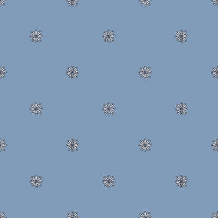 Color seamless decorative pattern with flowers. Beautiful vector pattern.