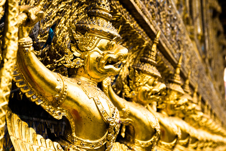 Wat Phra Kaew: Garuda on chapel Wat Phra Kaew