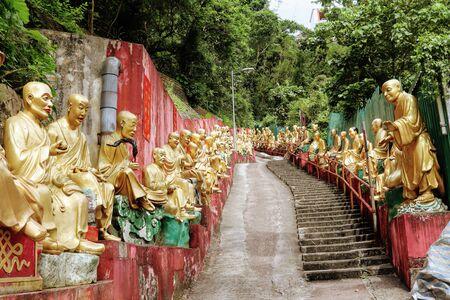 10,000 Buddhas Monastery at Sha Tin Hong Kong