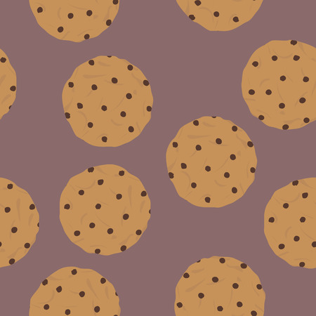 crumb: Seamless pattern of cookies Illustration