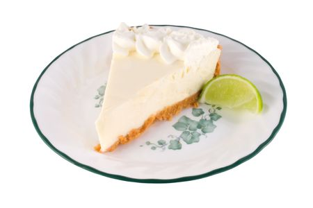 isolated image of key lime pie